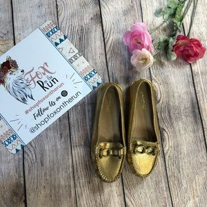 Sperry Top-Sider Jenna Golden Driving Loafers NWOB